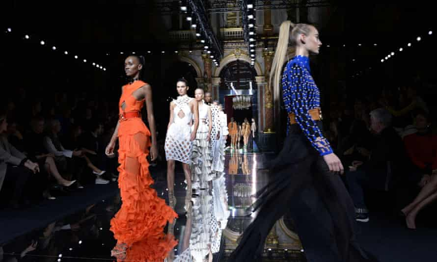 Balmain's 2016 spring/summer ready-to-wear show on 1 October in Paris
