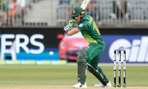 Faf du Plessis of South Africa bats during the first ODI against Australia.