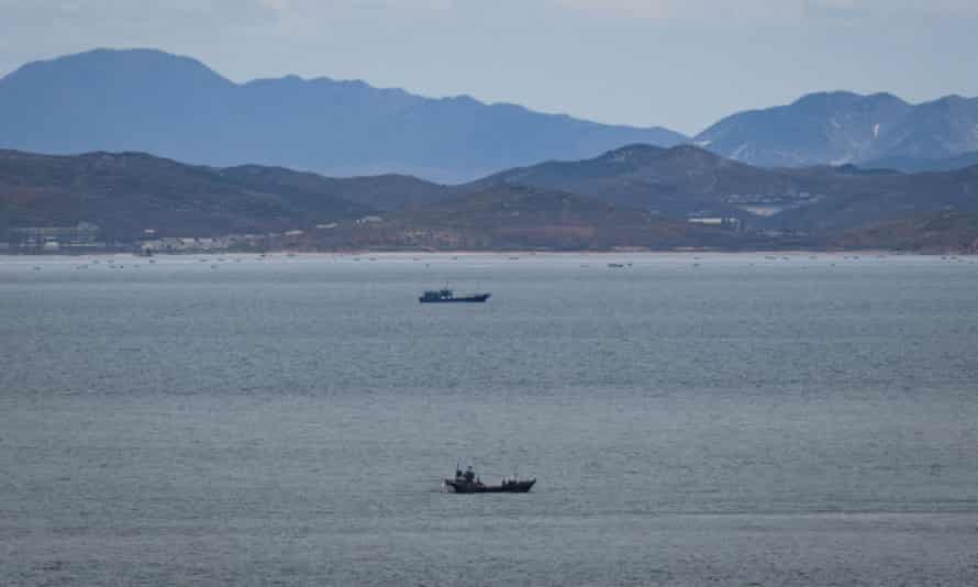 The killing of the South Korean official is said to have happened in waters off the border island of Yeonpyeong  pictured
