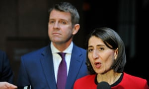 Mike Baird and New South Wales treasurer Gladys Berejiklian