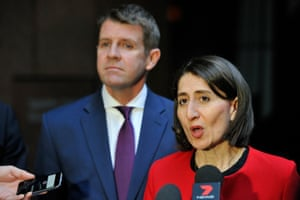 Mike Baird and his most likely successor, the New South Wales treasurer, Gladys Berejiklian