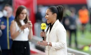Alex Scott: the standard-bearer for female football punditry.