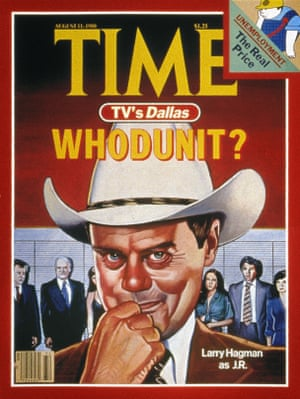 Dallas, 1980. Cover Of 'Time' Magazine, 11 August 1980, Featuring Actor Larry Hagman In The Role Of J.R. Ewing, A Character From The American Television Series 'Dallas'