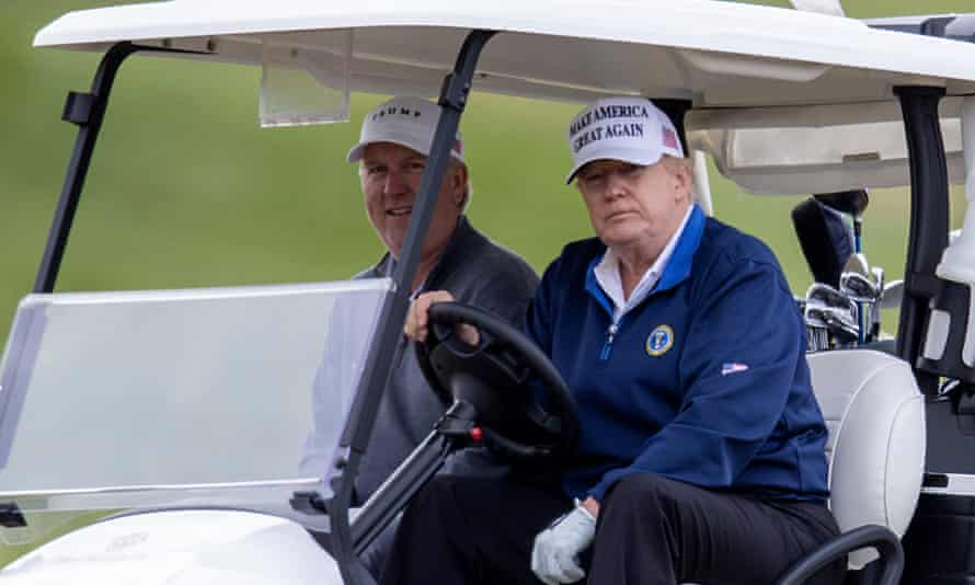 Donald Trump at his golf club in Sterling, Virginia as more Republicans rounded on him for failing to concede defeat in the presidential election.