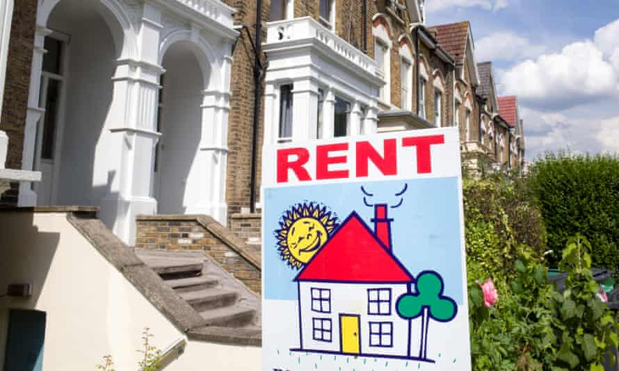 For rent sign, London