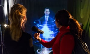 Imperial College Business School hosts several media representatives to showcase the holographic technology that they are now using to aid lectures and conferences, 30 November 2018  Photography by Fergus Burnett  Accreditation required with all use - 'fergusburnett.com