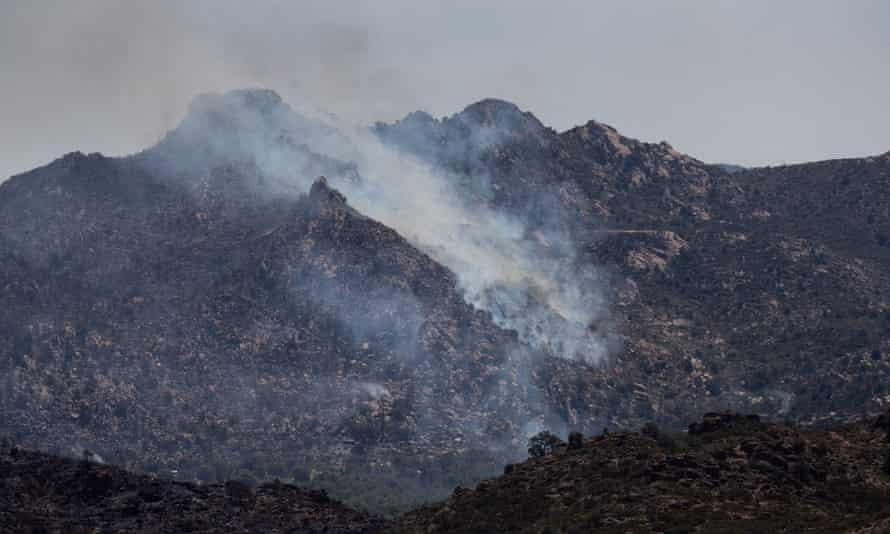 The Telegraph fire burns 10 June 2021 in Globe, Arizona.
