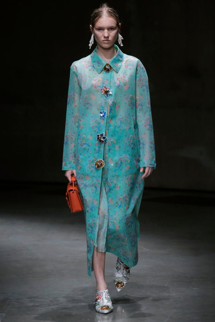 6f4867139 Fluffy slippers and fancy Marigolds: how suburban style stole London fashion  week | Fashion | The Guardian