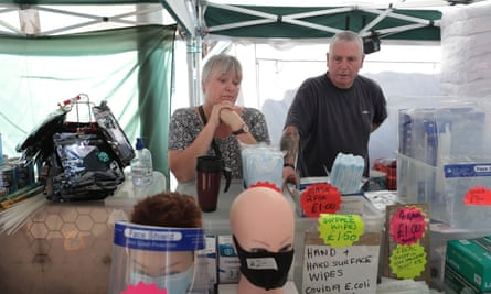 Mick and Mandy Mooney, on their market stall Crawley town centre