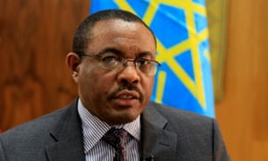 Ethiopian Prime Minister Hailemariam Desalegn in his Addis Ababa office.