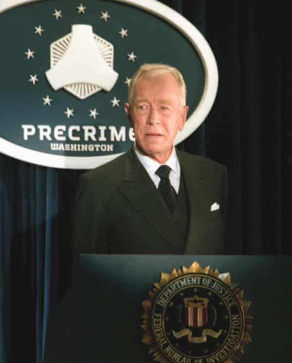 Fabulously evil ... Von Sydow in Minority Report.