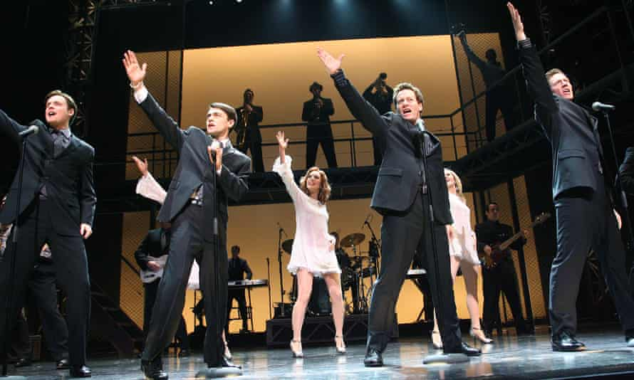 Stephen Ashfield, Ryan Molloy, Glenn Carter and Philip Bulcock as the members of the Four Seasons, in the West End production of Jersey Boys, 2008.