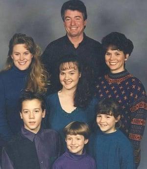 Megan Rapinoe (bottom, centre) with her family.