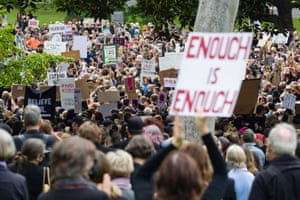 'Enough is enough' was a common rallying cry at the March 4 Justice rallies.