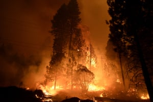Three major fires, including the Creek Fire, burned in Fresno, San Bernardino and San Diego counties,