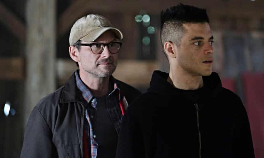 Christian Slater as Mr.Robot and Rami Malek as Elliot Alderson.