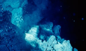 A hydrothermal vent on the East Pacific Rise, seen as the root of life.