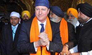 David Cameron during a visit to Amritsar in 2013