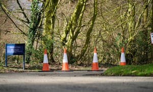 Traffic cones block the entrance to Cransley school in Northwich.