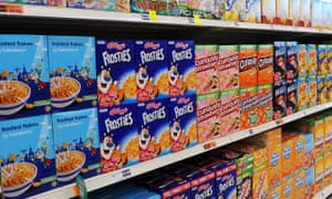 Breakfast cereals in a supermarket
