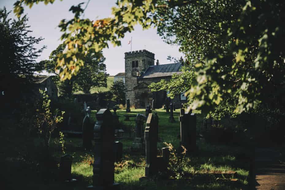 Saint Mary's churchyard, Newchurch, Lancs, UK.