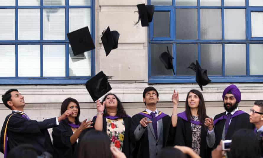 LSE politics graduates celebrating.