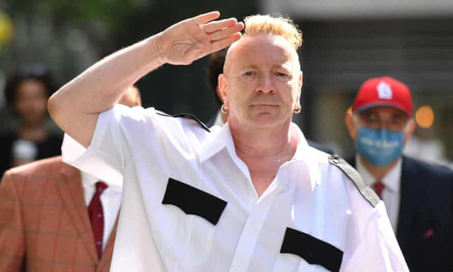 Sex Pistols frontman John Lydon, also known as Johnny Rotten, in central London.