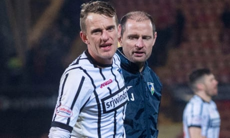 Falkirk vow to find fans who threw fake eyes at Dunfermline's Dean Shiels