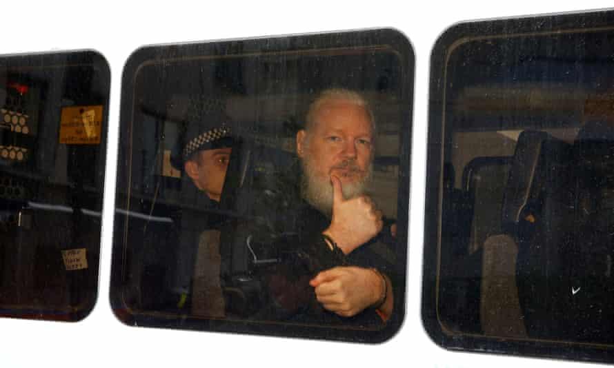 Assange after his arrest in April.