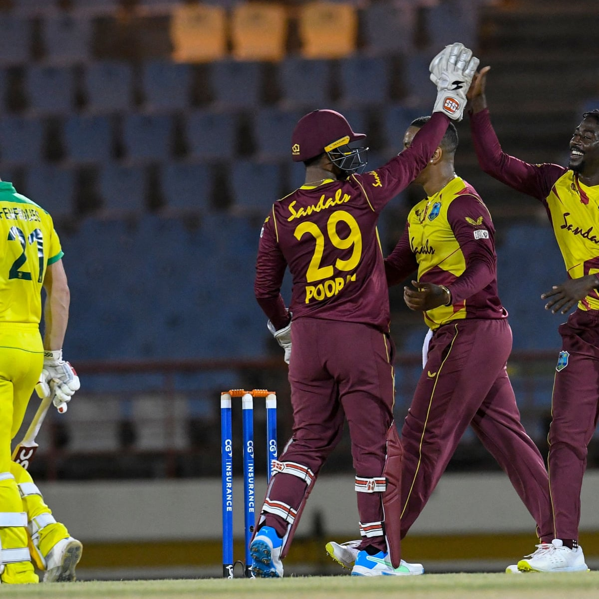 West Indies Beat Australia By 56 Runs In Second T20 International Live Sport The Guardian