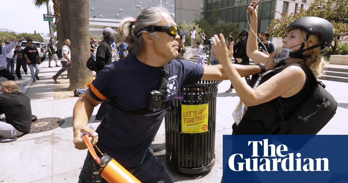'Open season on media': journalists increasingly targeted at Los Angeles protests