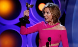 Allison Janney accepting the best supporting actress award.