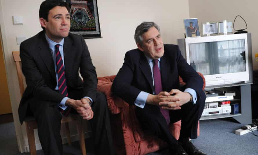 Burnham, when he was health secretary, with then prime minister Gordon Brown, 2010.
