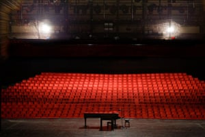One of the year's many empty concert halls.