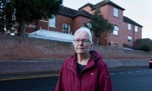 Patricia Hodges outside Wayside House in Bromsgrove, Worcestershire