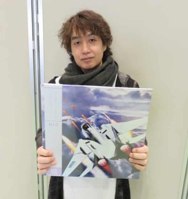 Hiroshi Kawaguchi with After Burner II LP.