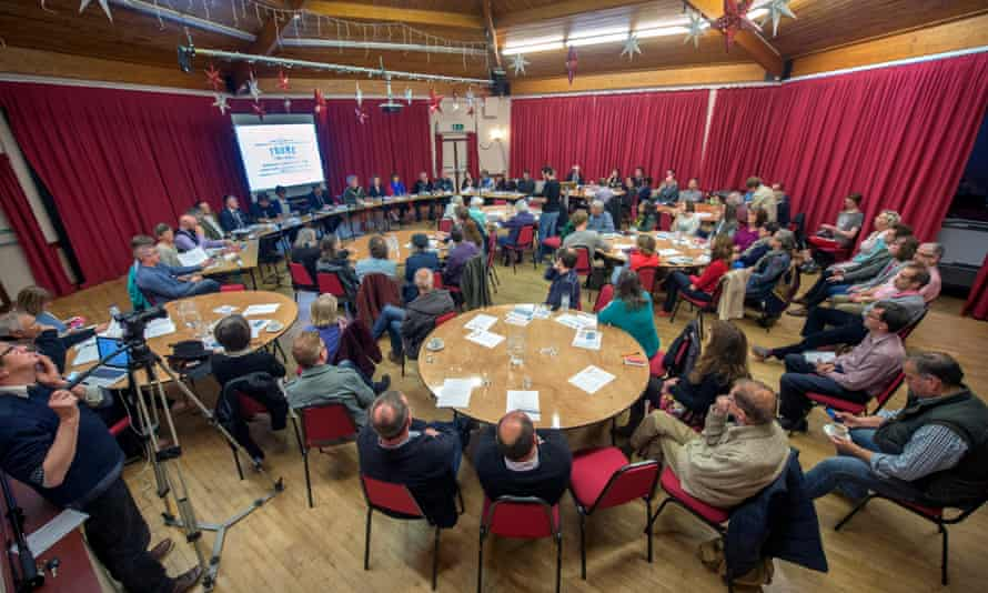 town council meeting in Frome, Somerset