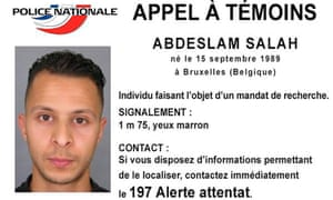 Belgian national Salah Abdeslam appears witnesses notice tweeted by the French police.