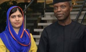 Malala Yousafzai with Yemi Osinbajo