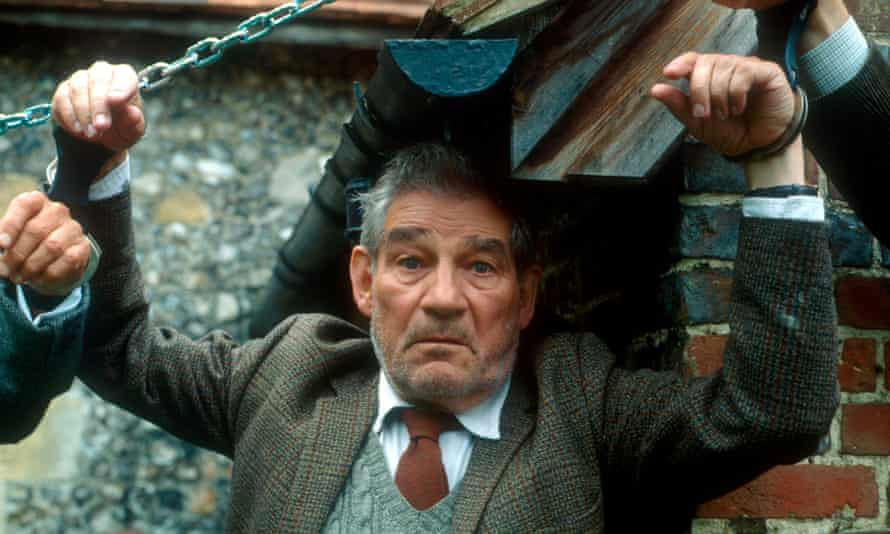 Trevor Peacock as Jim Trott in The Vicar of Dibley. Jim's particular dimness was manifest in an acute inability to say what he meant, prefacing a 'Yes' with a string of stuttering 'No's'.