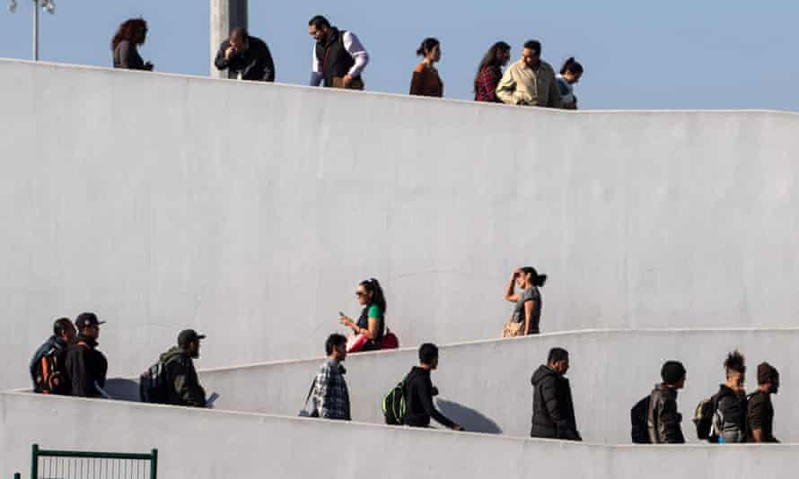 El Chaparral border crossing in Tijuana, Baja California state, Mexico, 30 January