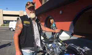 Troy Gill, a marine veteran, in El Paso, Texas