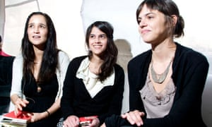 Brenda Lozano, centre, with the writer Valeria Luiselli, right, and the singer Julieta Venegas, left, in Mexico City, 2010.