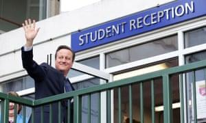 David Cameron visiting academy