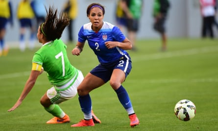 Sydney Leroux starred for USA in their 5-1 defeat of Mexico.