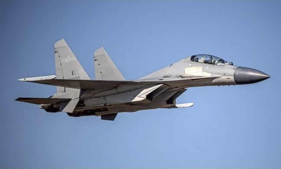 A Chinese J-16 fighter jet similar to the ones Taiwan says crossed into its territory on Saturday.