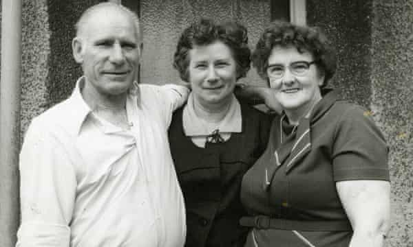 Czeslaw Adamiec, his sister (in the middle) and his wife.