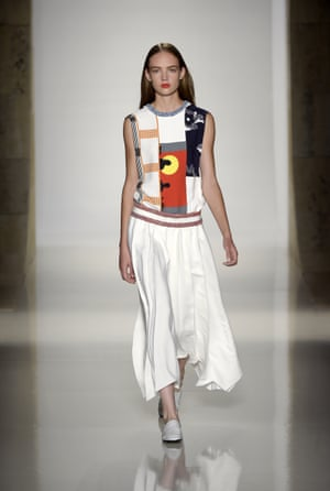 Graphic prints were a feature of the show.