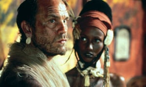 John Malkovich and Iman in the 1993 film adaptation of Heart of Darkness. The book has been criticised for its degrading portrayal of Africans. Photograph: Allstar