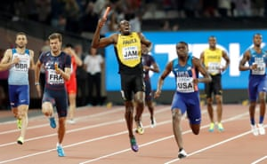 In his final race before retirement Usain Bolt of Jamaica shouts out in agony as he stops running due to a sudden injury in the final of the mens 4 x 100m relay during day nine of the IAAF World Athletics Championships 2017 at the Olympic Stadium, London.